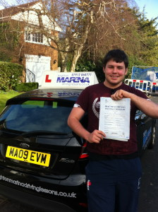 Hove, passed first time.